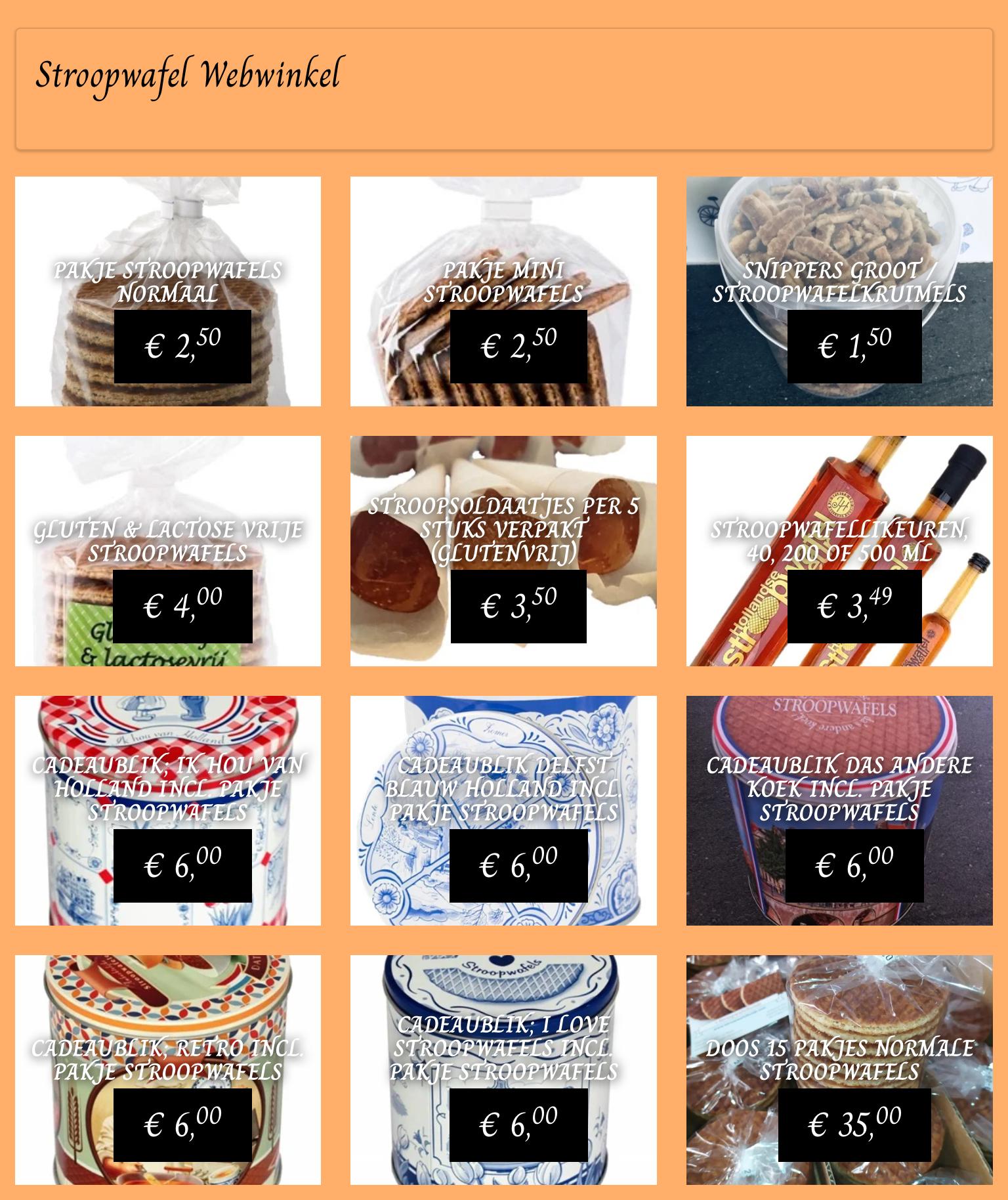 Stroopwafel webwinkel