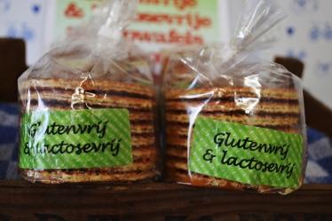 Gluten en lactose vrije stroopwafels t Stroopwafelhuisje